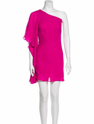 Nha Khanh One-Shoulder Mini Dress Pink