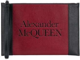 Alexander McQueen debossed logo Signature clutch