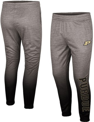 Colosseum Men's Heathered Gray Purdue Boilermakers Sitwell Sublimation Fleece Pants