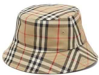 Burberry Vintage-check Cotton-blend Bucket Hat - Womens - Beige Multi