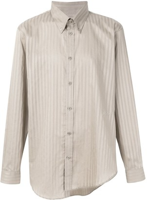 Martine Rose asymmetric striped button down shirt