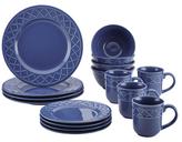 Paula Deen Savannah Trellis Ceramic Dinnerware Set (16 PC)