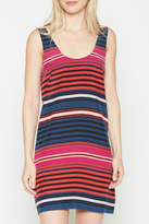 Joie Stripe Print Silk Dress