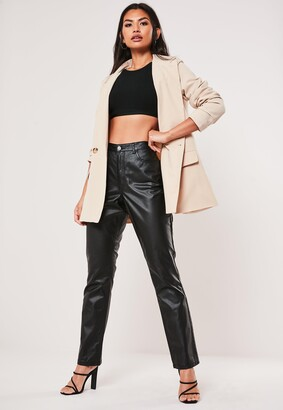 Missguided Tall Black Coated Wrath High Waisted Jeans