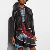 Coach Fringed Moto Jacket
