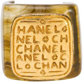 One Kings Lane Vintage Chanel Lucite & Gold Ring, 1999