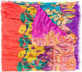Etro mixed paisley and floral print scarf