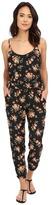 BB Dakota Linette Rose Revival Printed Crepon Jumpsuit