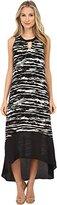 Kensie Women's Scratched Stripes Maxi Dress