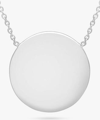 IBB Personalised Round Disc Pendant Necklace