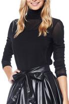 Gracia Black Mesh Top
