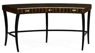 Curved Art Deco Solid Wood Half-Circle Desk Jonathan Charles Fine Furniture