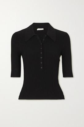 A.L.C. X Petra Flannery Amari Ribbed-knit Top - Black