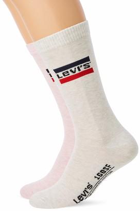 Levi's Men's 168SF REGULAR CUT SPRTSWR LOGO 2P Socks