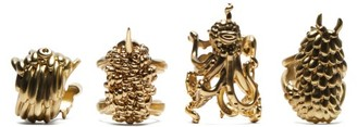 L'OBJET Lobjet - X Haas Brothers Monster Ball Napkin Rings - Gold
