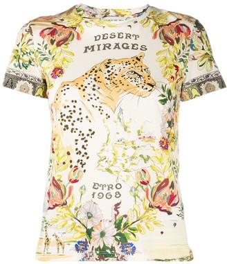 Etro floral print short sleeve T-shirt
