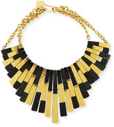Ashley Pittman Kifalme Dark Horn & Bronze Bib Necklace, Bronze