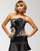 Lace Feathered Bustier