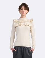 Coco Ribbon Knitted Ruffle Sweater