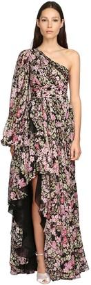 Giambattista Valli Flower Print Silk Georgette Dress