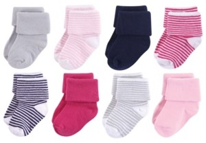 Luvable Friends Baby Socks, 8-Pack, 0-24 Months