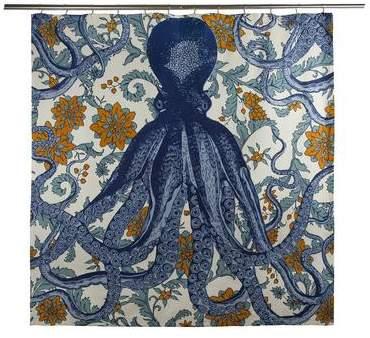 Thomas Paul Octopus Vineyard Shower Curtain