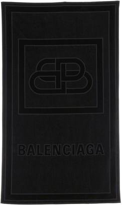 Balenciaga Sponge Embossed Bb Logo Beach Towel