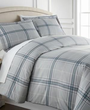 SouthShore Fine Linens Ultra-Soft Plaid Down Alternative 3 Piece Comforter Set, Full/Queen Bedding