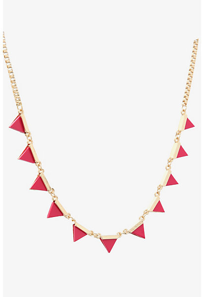Torrid Gold & Pink Triangle Necklace