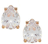 Cezanne Cubic Zirconia Pear Stud Earrings