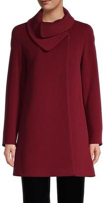 Cinzia Rocca Virgin Wool Cashmere Car Coat
