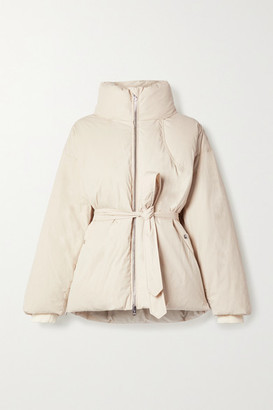 rag & bone - Donna Belted Quilted Cotton-blend Shell Down Coat - Beige