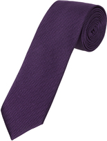 Oxford Silk Tie Textured Purple Med X