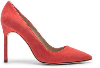 Manolo Blahnik BB Suede Pumps in Orange | FWRD
