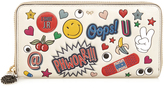 Anya Hindmarch All Over Stickers zip-around leather wallet