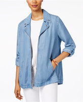 Style&Co. Style & Co Denim Roll-Tab Jacket, Only at Macy's