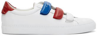 Givenchy White and Red Velcro Urban Street Sneakers