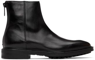 Paul Smith Black Leather Oscar Boots