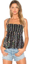 Needle & Thread Floral Stripe Tie Top in Black. - size 2 (also in 6)