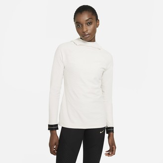 Nike Women's Hooded Long-Sleeve Top Pro Icon Clash