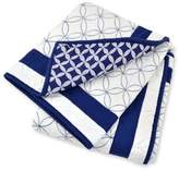 Just Born Mix & Match Classic Collection Hampton Reversible Quilt in Blue