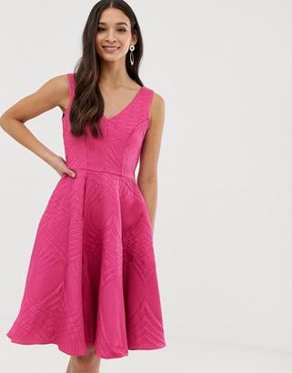 Closet London Closet full skirt lined dress-Pink