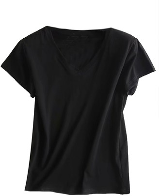 Goodnight Macaroon 'Joey' Basic V-Neck T-Shirt (2 Colors)