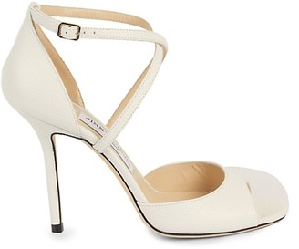 Jimmy Choo Ankle-Strap Stiletto Leather Sandals