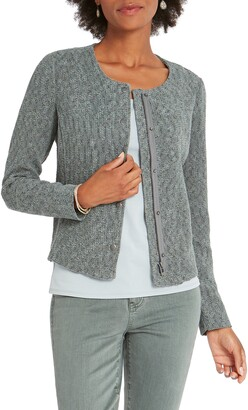 Nic+Zoe Fall Nights Crop Knit Jacket