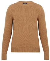 A.p.c. Wind Crew-neck Wool And Cashmere-blend Sweater