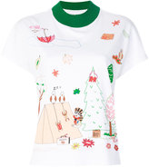 Mira Mikati illustrated print T-shirt