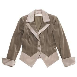Valentino Grey Velvet Jackets
