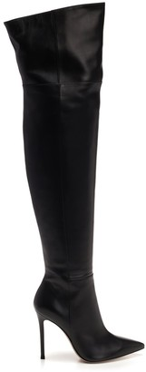 Gianvito Rossi Pointed Toe Over The Knee Heeled Boots