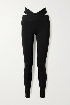 Live The Process Orion Cutout Stretch-supplex Leggings - Black